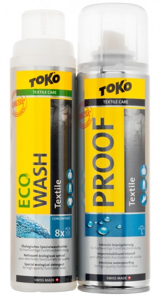 Toko Duo-Pack Textile Proof & Eco Textile Wash 2x 250 ml