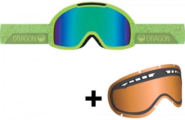 Dragon DX2 Skibrille inkl. Wechselscheibe